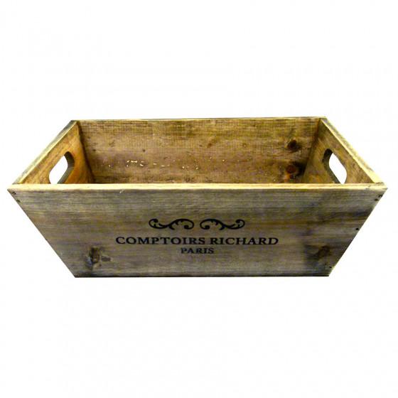 Corbeille en bois rétro Comptoirs Richard