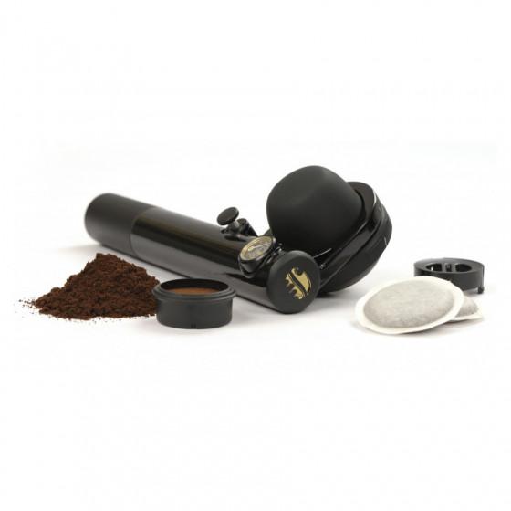 Machine à café nomade hybride Handpresso pour dosettes ESE et café moulu