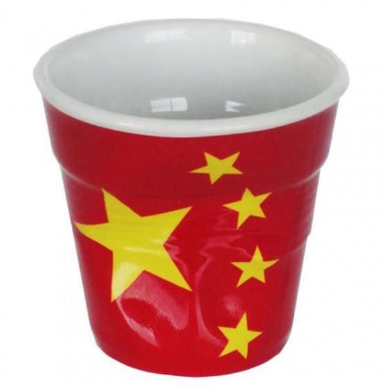 Gobelet froissé expresso drapeau Chine 8cl