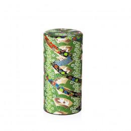 Boîte à thé vide verte à motifs japonais 200g