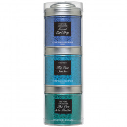 Tubo 3 petites boîtes de thés noirs et verts Grand Earl Grey, Sencha, Menthe 80g