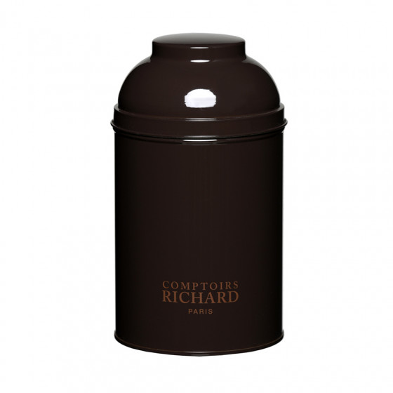 Boîte vide laquée dôme marron