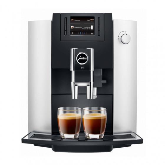 Robot café JURA E6 Platine + 3 paquets de 250g de café en grains et 2 verres expresso Cafés Richard 8cl offerts