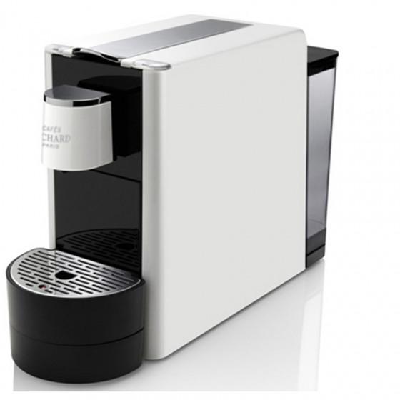 Machine Ventura blanche pour Capsules Premium Cafés Richard et 1 étui de 24 capsules premium n°8 Offert