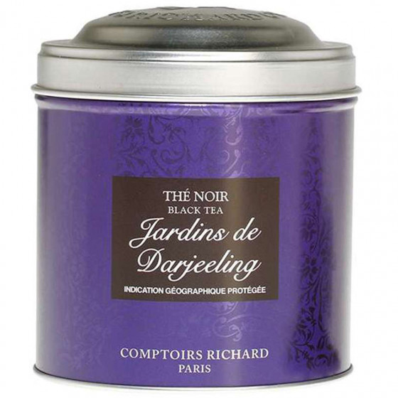 Boîte métal vide thé Jardin de Darjeeling Comptoirs Richard 200g