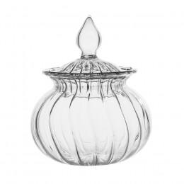 Bonbonnière en verre strié