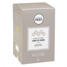 Thé noir Bio breakfast B.O.P. Départ Attendu Gare du Nord sachets mousseline x20