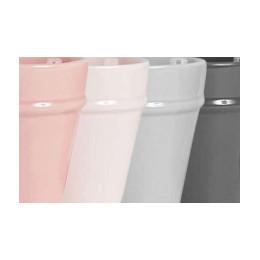 Set de 4 gobelets ring rose et gris 30cl