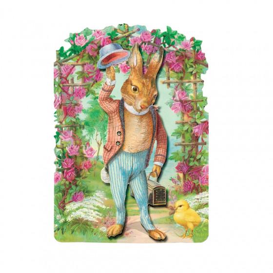 Carte postale monsieur lapin et son enveloppe