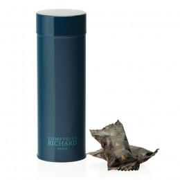Boîte métal laquée à thé bleu marine garnie d'oursons guimauve 80g