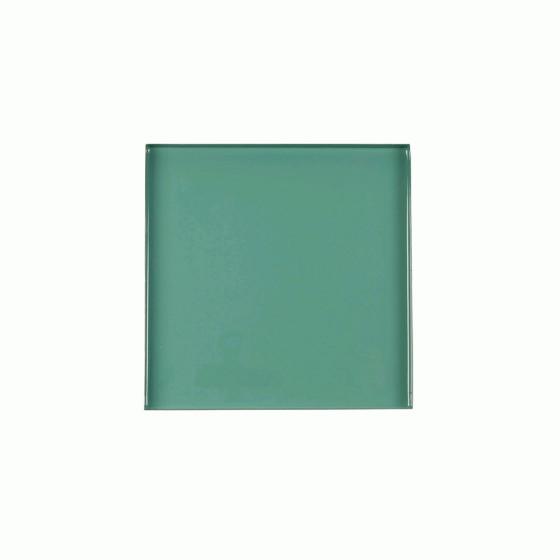 Plateau émaillé vert