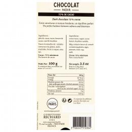Tablette chocolat noir 72% 100g