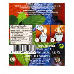 Cuillère chocolat chaud noir 3 origines