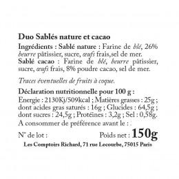 Sachet garni de duo sablés nature & sablés cacao 150g