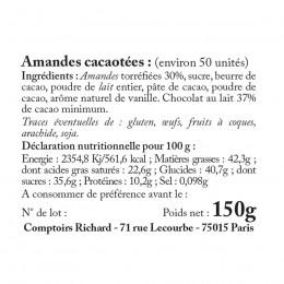 Etui garni d'amandes cacaotées 150g