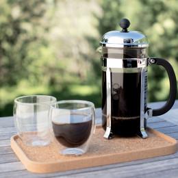 Cafetière à piston argentée Chambord 8 tasses Bodum