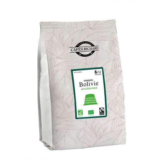 Café expresso Bolivie capsules compatibles Nespresso® x50