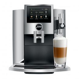 Robot café JURA S8 Chrome et 5 paquets de 250g de café en grains et 4 verres double parois Cafés Richard offerts