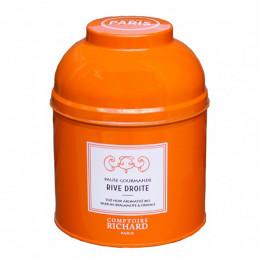 Thé noir Bio parfum bergamote & orange Pause Gourmande Rive Droite boîte laquée sachets mousseline x15