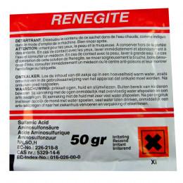 Sachet de poudre dertartrante Renegite pour machines à café percolateur