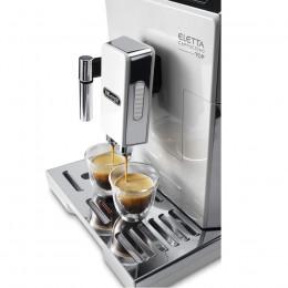 Robot café Delonghi Ecam 45.760W et 3 paquets de 250g de café en grains et 2 verres expresso Cafés Richard 8cl offerts