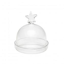 Mini cloche d'assiette cadeau étoile