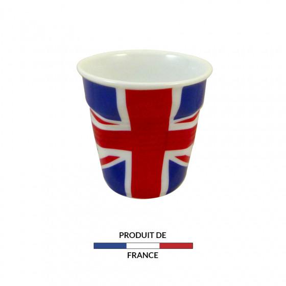 Gobelet froissé expresso drapeau Angleterre 8cl
