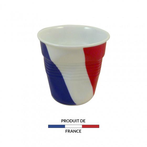 Gobelet froissé expresso drapeau France 8cl