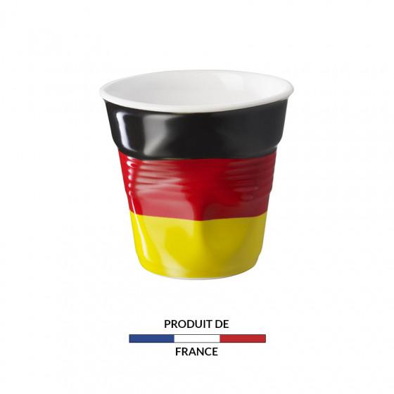 Gobelet froissé expresso drapeau Allemagne 8cl