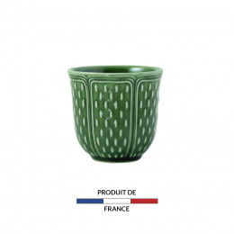 Coffret 2 gobelets vert olive 8,5cl
