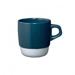 Mug en porcelaine bleu empilable 32cl