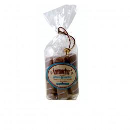 Sachet garni de guimauves enrobées de chocolat au lait et aromatisées à la fleur d'oranger Guimochoc x5