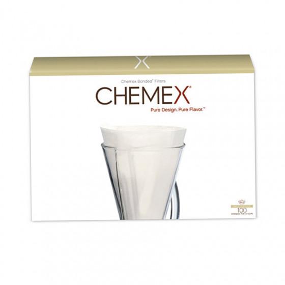 Filtres papier pour cafetière Chemex 3 tasses x100