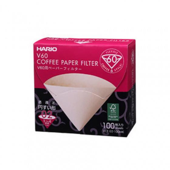 Filtres Dripper Hario V60 1 à 4 tasses x100