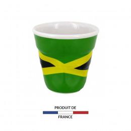 Gobelet froissé expresso drapeau Jamaique 8cl