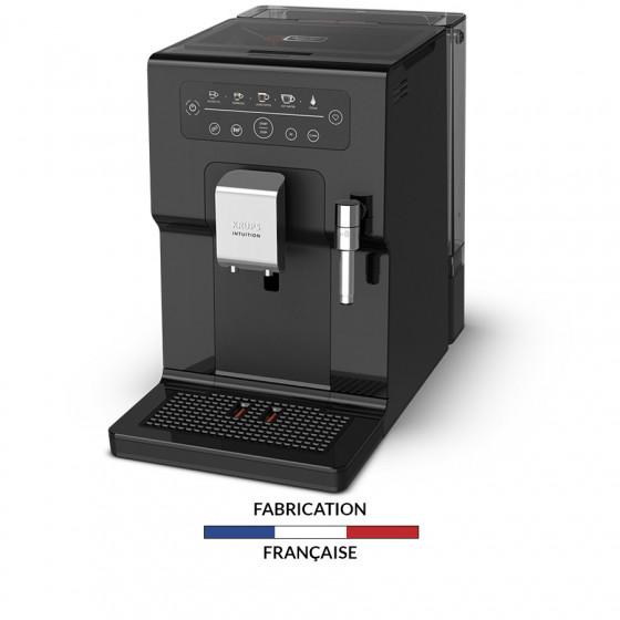 Robot café Krups Intuition Essential et 2 paquets de 250g de café en grains et 4 verres expresso Cafés Richard 5cl offerts