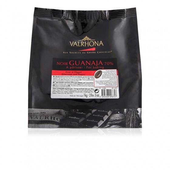 Pistoles de chocolat noir Guanaja 70% 1kg