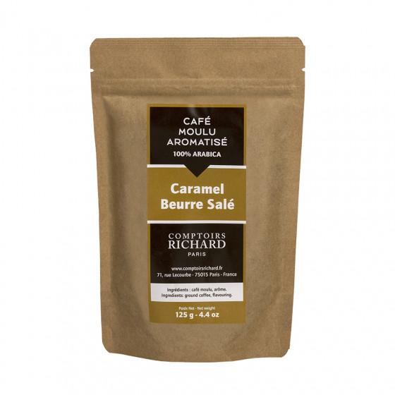 Café moulu Moka aromatisé au caramel beurre salé 125g
