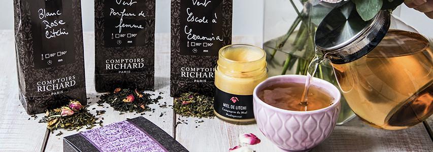 Nos thés et tisanes fleuris